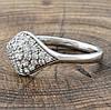 Кольцо Xuping 32061 белые фианиты позолота Белое Золото размер 17, фото 3