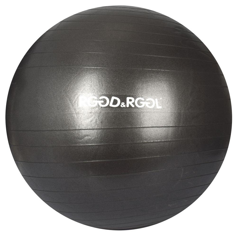 М'яч для фітнесу MS 3343-2-B Фітбол, 65см, 1400г, АВЅсатин, чорний, в кульку, 19-16-10см
