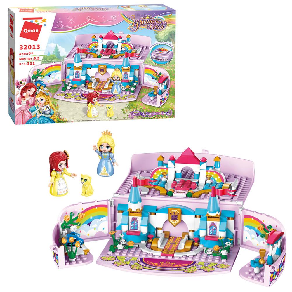 Конструктор Qman 32013  замок принцессы, мебель, фигурки, 301дет, в кор-ке, 37,5-27,5-7см