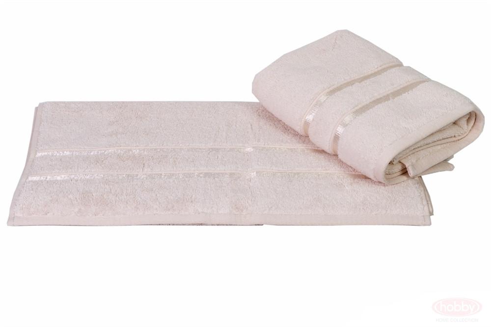 Рушник махровий HOBBY 70х140 бавовна DOLCE кремовий 1шт