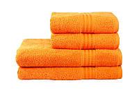 Рушник махровий HOBBY 70х140 бавовна RAINBOW помаранчевий 1шт, фото 1