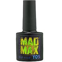 Суперстойкий топ Yo Nails Mad Max с УФ фильтром, 8 мл без липкого слоя