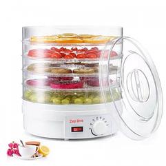 Сушилка для фруктов и овощей диаметр 32см Дегидратор Zepline ZP-034 Сушильный аппарат для фруктов