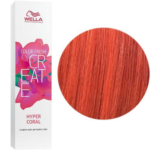 Відтіняюча фарба для волосся Wella Color Fresh Create Hyper Coral Гіпер корал 60 мл