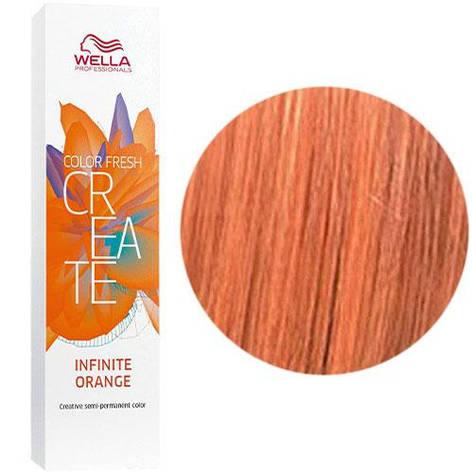 Відтіняюча фарба для волосся Wella Color Fresh Create Infinite Orange Нескінченний помаранчевий 60 мл, фото 2