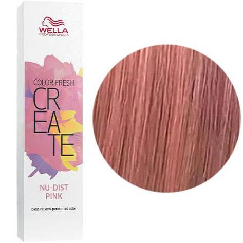 Відтіняюча фарба для волосся Wella Color Fresh Create Nudist Pink Пудровий рожевий 60 мл, фото 2