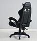 Кресло офисное компьютерное игровое Gamer Pro Jaguar Черно-Синее, фото 3