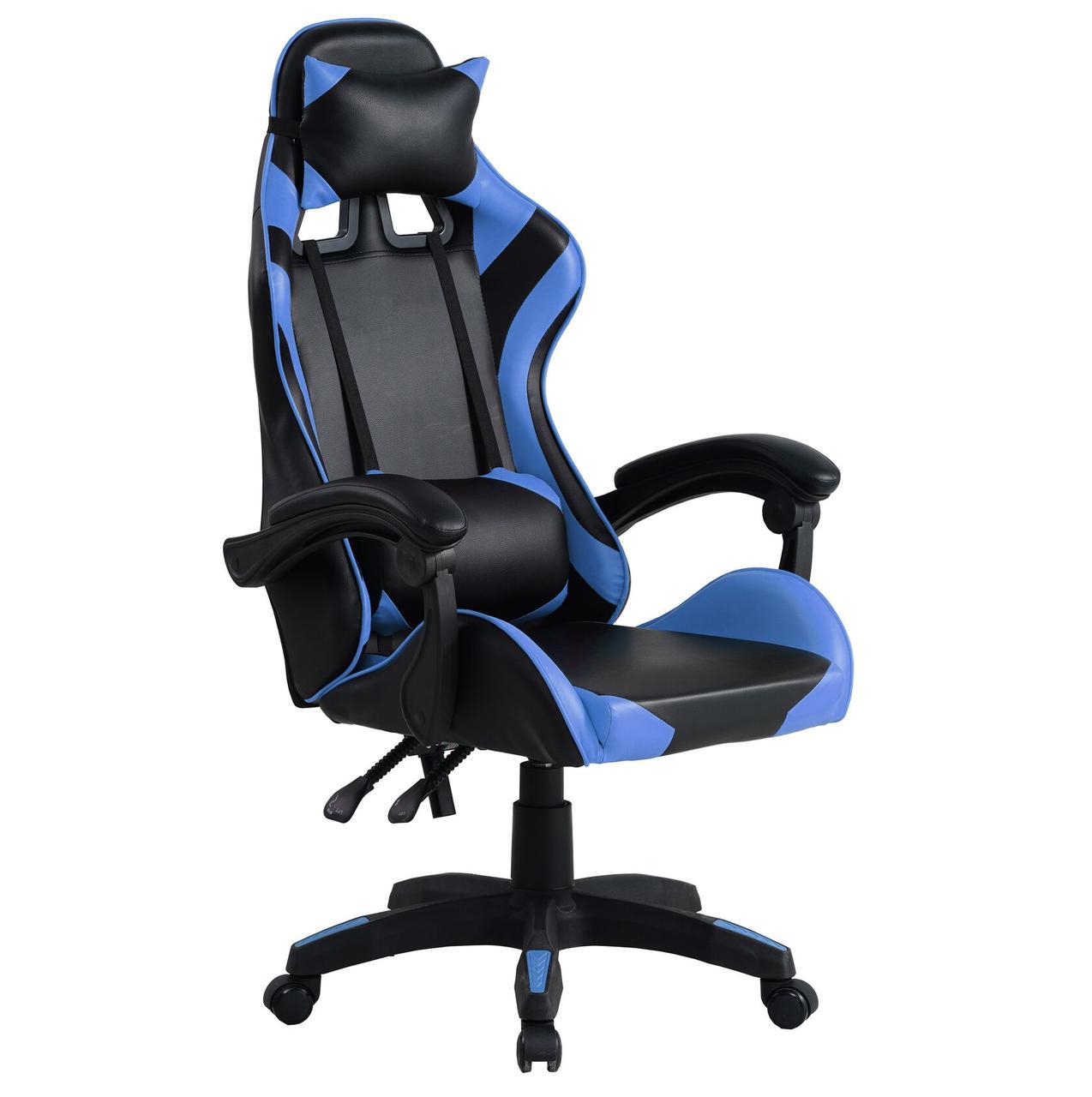 Кресло офисное компьютерное игровое Gamer Pro Jaguar Черно-Синее