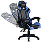 Кресло офисное компьютерное игровое Gamer Pro Jaguar Черно-Синее, фото 4