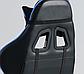Кресло офисное компьютерное игровое Gamer Pro Jaguar Черно-Синее, фото 2
