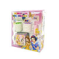 Набір: друку роликові (3 шт), ручка-кріплення, штемпельна подушечка, Мультфільми для дівчаток
