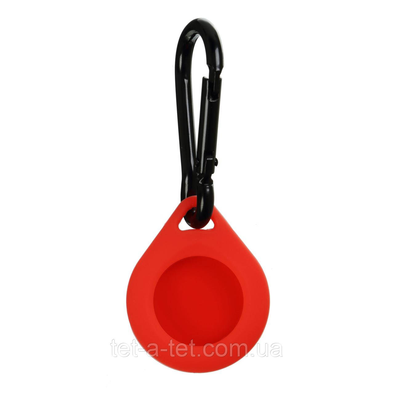 Силіконовий брелок з карабіном для Apple AirTag Red (червоний)