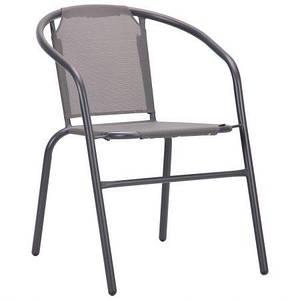 Летний стул AMF Taco темно-серый для кафе для сада на террасу