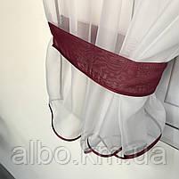 Короткий тюль з ламбрекеном для залу спальні вітальні, тюль з шифону атласу для будинку квартири кімнати, тюль до підвіконня в зал, фото 8