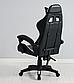 Кресло офисное компьютерное игровое Gamer Pro Jaguar Черно-Белое, фото 2