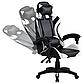 Кресло офисное компьютерное игровое Gamer Pro Jaguar Черно-Белое, фото 4