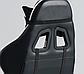 Кресло офисное компьютерное игровое Gamer Pro Jaguar Черно-Белое, фото 3