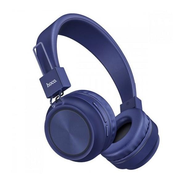 Наушники накладные беспроводные с микрофоном Hoco W25 Promise Blue