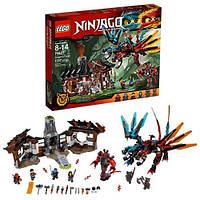Детский конструктор Bela Ninjago Ниндзяго Кузня Дракона Разноцветный 1173 детали Яркий Дракон и Замок