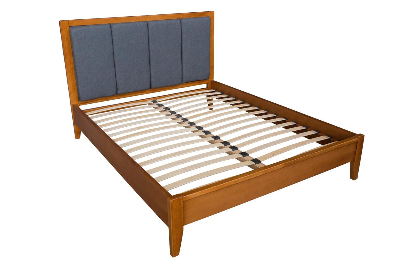 Ліжко дерев'яне з м'яким узголів'ям Верона , ArtWood колір горіх