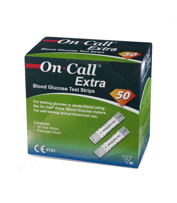 Тест-смужки On-Call Extra 50 шт. (Acon, США) 17.08.2022 р.