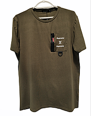 Мужская трикотажная футболка в стиле Supreme Louis Vuitton Collaboration,суприм см.замеры в ПОЛНОМ ОПИСАНИИ