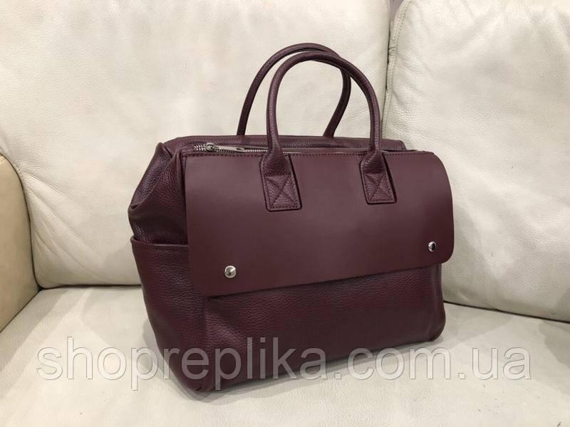Женская кожаная сумка женская шоппер через плечо натуральной кожи Италия  Люкс