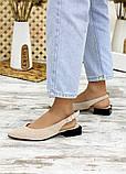 Туфлі босоніжки латте замша Rose 7709-28, фото 2