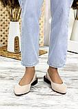 Туфлі босоніжки латте замша Rose 7709-28, фото 3