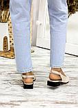 Туфлі босоніжки латте замша Rose 7709-28, фото 5