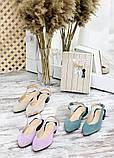 Туфлі босоніжки латте замша Rose 7709-28, фото 6
