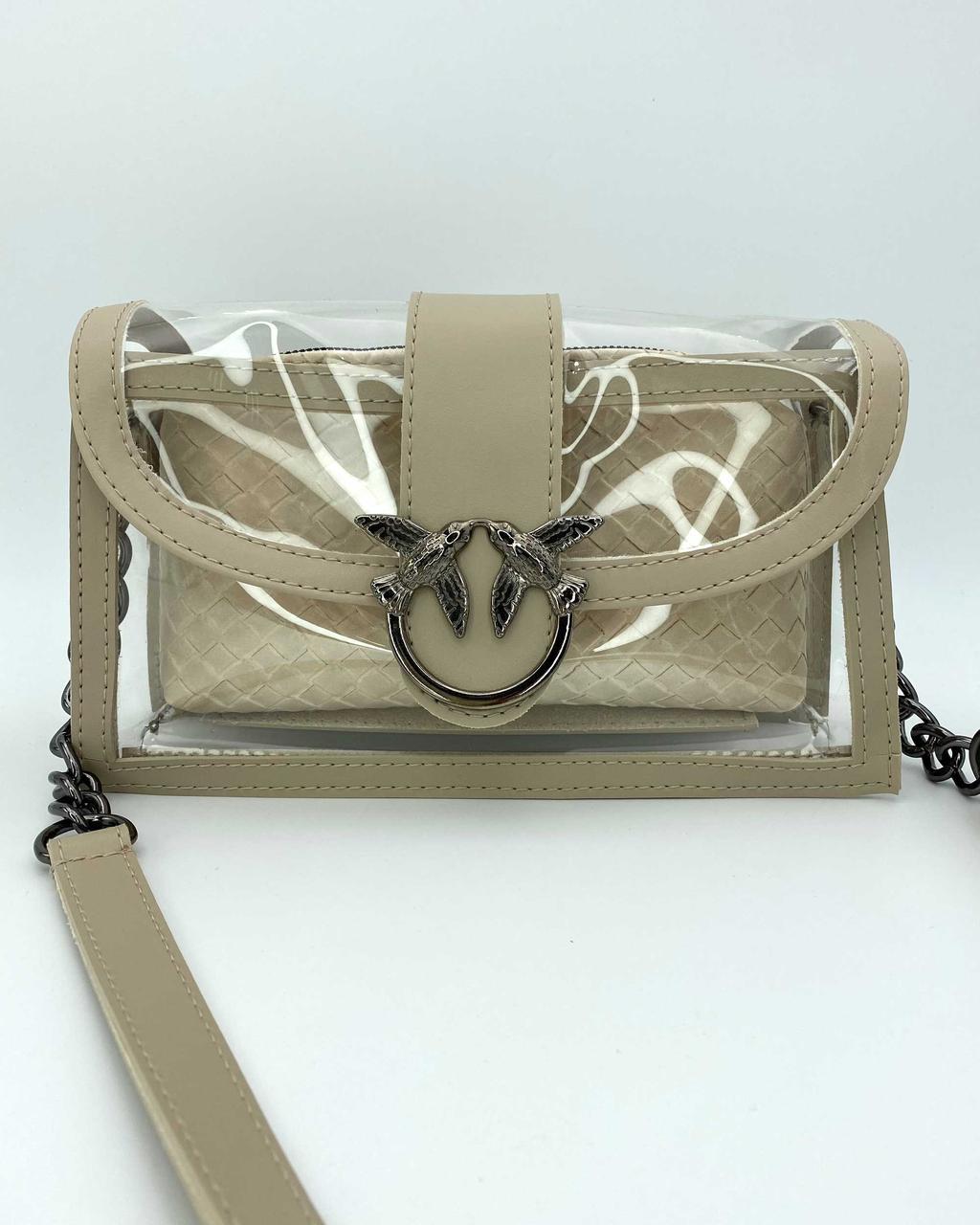 Бежева жіноча сумочка річна силіконова