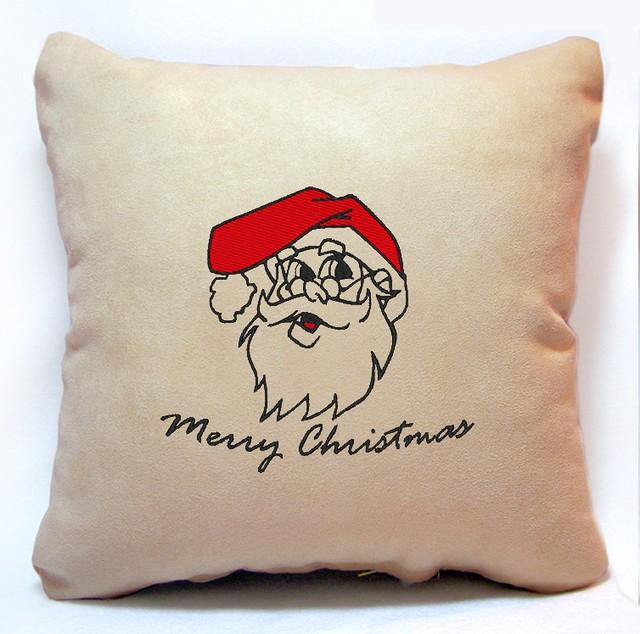 "Новогодняя подушка ""Санта Клаус/Merry Christmas"" 33"