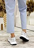 Кросівки біла шкіра зірки 7713-28, фото 4