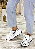 Кросівки біла шкіра зірки 7713-28, фото 5