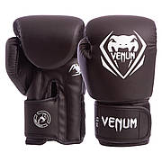 Перчатки боксерские PU на липучке VENUM BO-8353-BK 10 унции