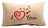 "Подушка для ""Закоханих""№20 ""I love you"", фото 1"