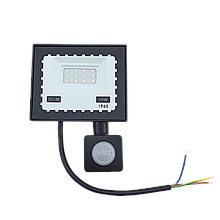 Прожектор LED 10W Ultra Slim 220V 900Lm 6500K IP65 з датчиком руху TechnoSystems TNSy5000513