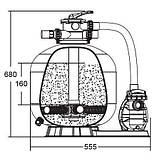 Фільтруюча установка Emaux FSF350 (для басейнів до 15 м. куб), фото 2