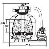 Фильтрующая установка Emaux FSF350 (для бассейнов до 15 м.куб.), фото 2