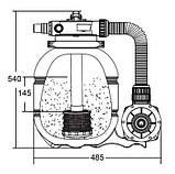 Фільтруюча установка Emaux FSP300 (для басейнів до 15 м. куб), фото 2