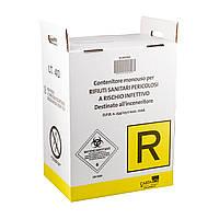 Контейнер для утилизации медицинских отходов BIOHAZARD картонный 60 л