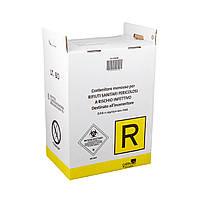 Контейнер для утилизации медицинских отходов BIOHAZARD картонный 40 л