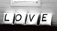 """Набір з 4-х подушок """"LOVE"""", фото 1"""