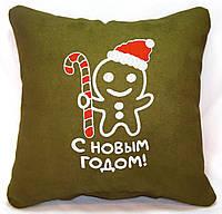 """Новорічна подушка """"Імбирний пряник - З Новим Роком!"""" 29, фото 1"""