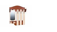 Вешалка для одежды ВО-04 на 3 крючка с полочкой / РТВ-МЕБЕЛЬ