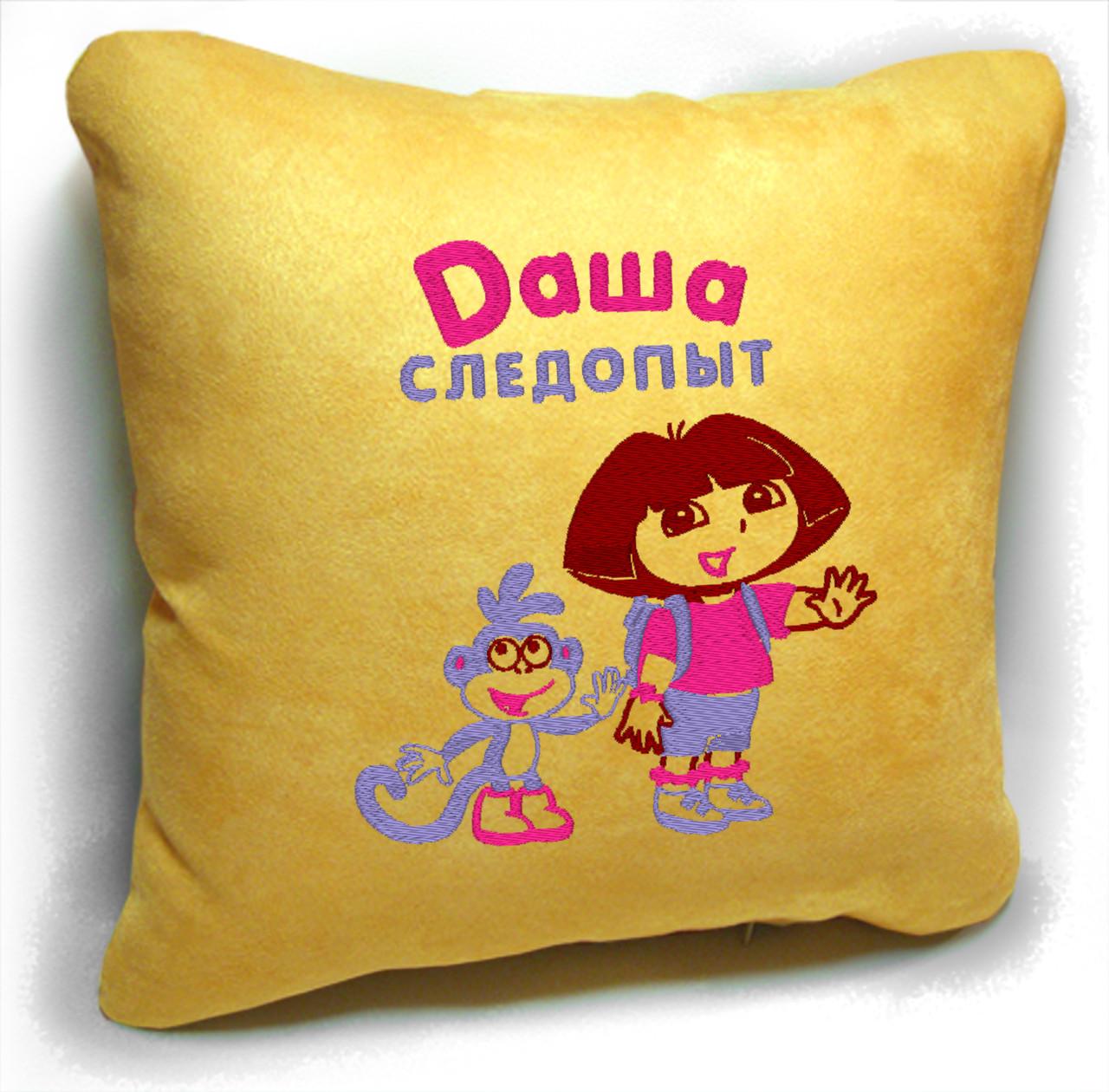 """Дитяча подушка № 04 """"Даша Слідопит"""""""