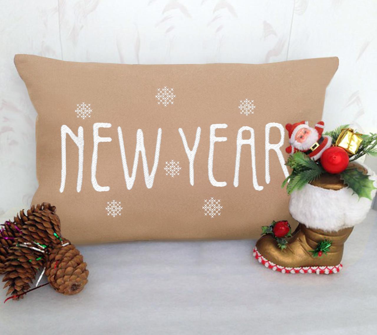 """Новогодняя подушка """"New Year"""" 21"""