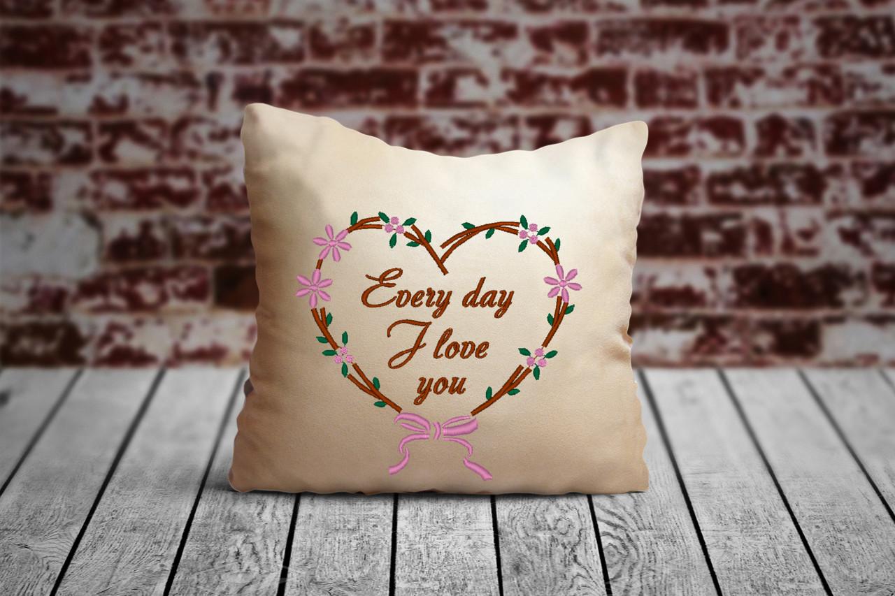 "Подушка для Влюбленных №81  ""Every day I love you"""
