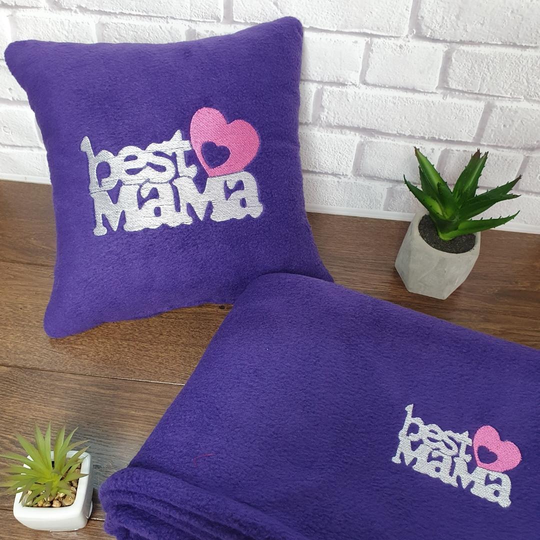 "Набір: подушка + плед ""Best Mama"""